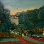Бабин А.И. Утиный мостик в Мытищах. 1994. Холст, масло