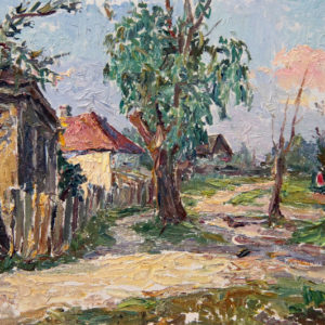 Безикович Б.Н. (1917-1978). В Чернобыле. 1963. Картон, масло