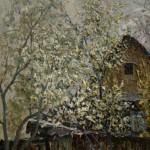 Горбатенко М.Ф. Черемуха цветет. 1975. Картон, масло