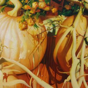 Гречина О.Н. Август (тыквы). 2005. Холст, масло