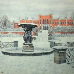 Иванов В.И. Усадьба Марфино. 2007. Бумага, акварель