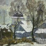 Каплан Ф.М. (1903-1985). Пейзаж со стожком. Холст, масло