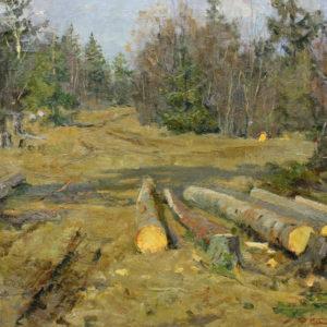 Каплан Ф.М. (1903-1985). Пейзаж. 1954. Холст, масло
