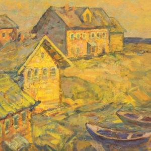 Кельберер Б.А. Последние лучи (Карелия) 2006. Холст, масло