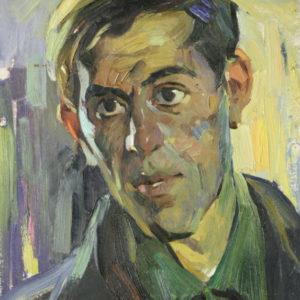 Клецель. Мужской портрет. 1958. Картон, масло