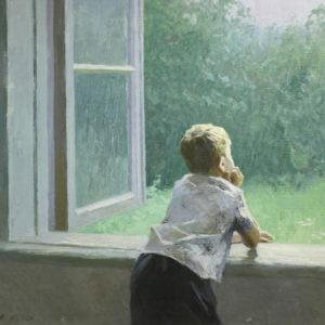 Макаров А.И. (1913-1992). Мелкий дождичек. 1964. Холст, масло