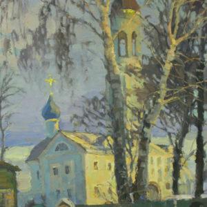 Пермиловский В.А. Владимирская церковь вечером. 2008. Холст, масло