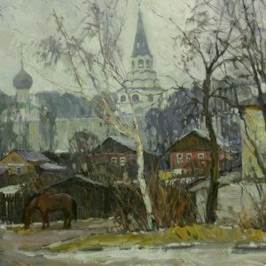 Пермиловский В.А. Свято-Успенский монастырь в городе Александрове. 2008. Холст, масло