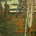 Полюшенко А.П. (1911-1985), нар. худ. РФ. На исходе дня. 1985. Холст,масло