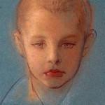 Радужный А. Портрет мальчика. 1985. Бумага, пастель