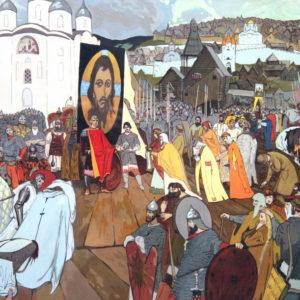 Рубцов С.С. (1938-2012). Господин Великий Новгород. 1980-е. Бумага, гуашь
