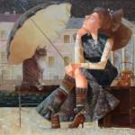 Тришина Ю.Н. Под зонтом. 2007. Холст, масло