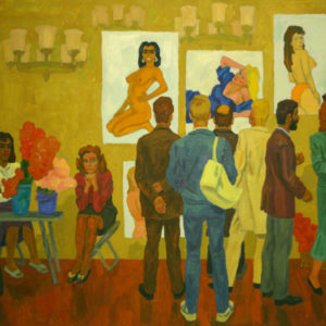 Фридман К.Ш. (1926-2001). Женщины, мужчины и цветы. 1995. Холст, масло