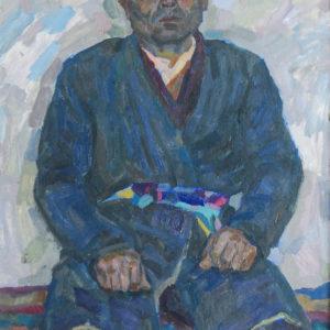 Фридман К.Ш. (1926-2001). Портрет Джамалдина Абдуразакова. 1964. Картон, масло