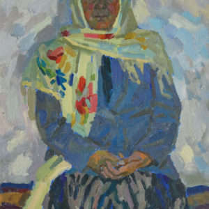 Фридман К.Ш. (1926-2001). Портрет Тутихон Султановой. 1964. Картон, масло