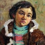 Курлов С.Я. (1927-2004). Портрет художника С.Курлова в детстве. 1968. Картон, масло