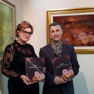 Марина Домникова и коллекционер хорватского наивного искусства Владимир Тёмкин